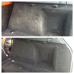 Range Rover Sport Complete Detail _ extensive pet hair removal before and after _ Call or email toda
