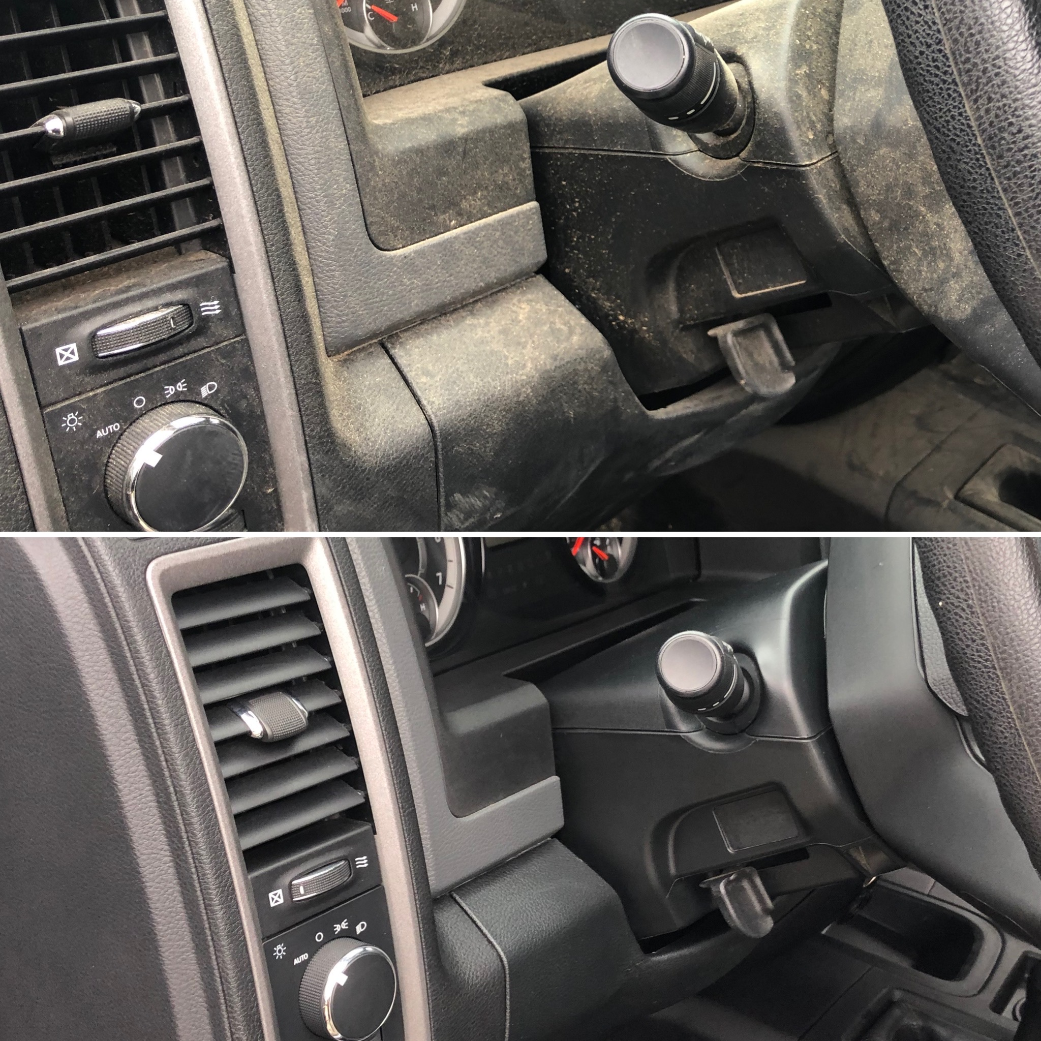 Dash Detailing Before & After