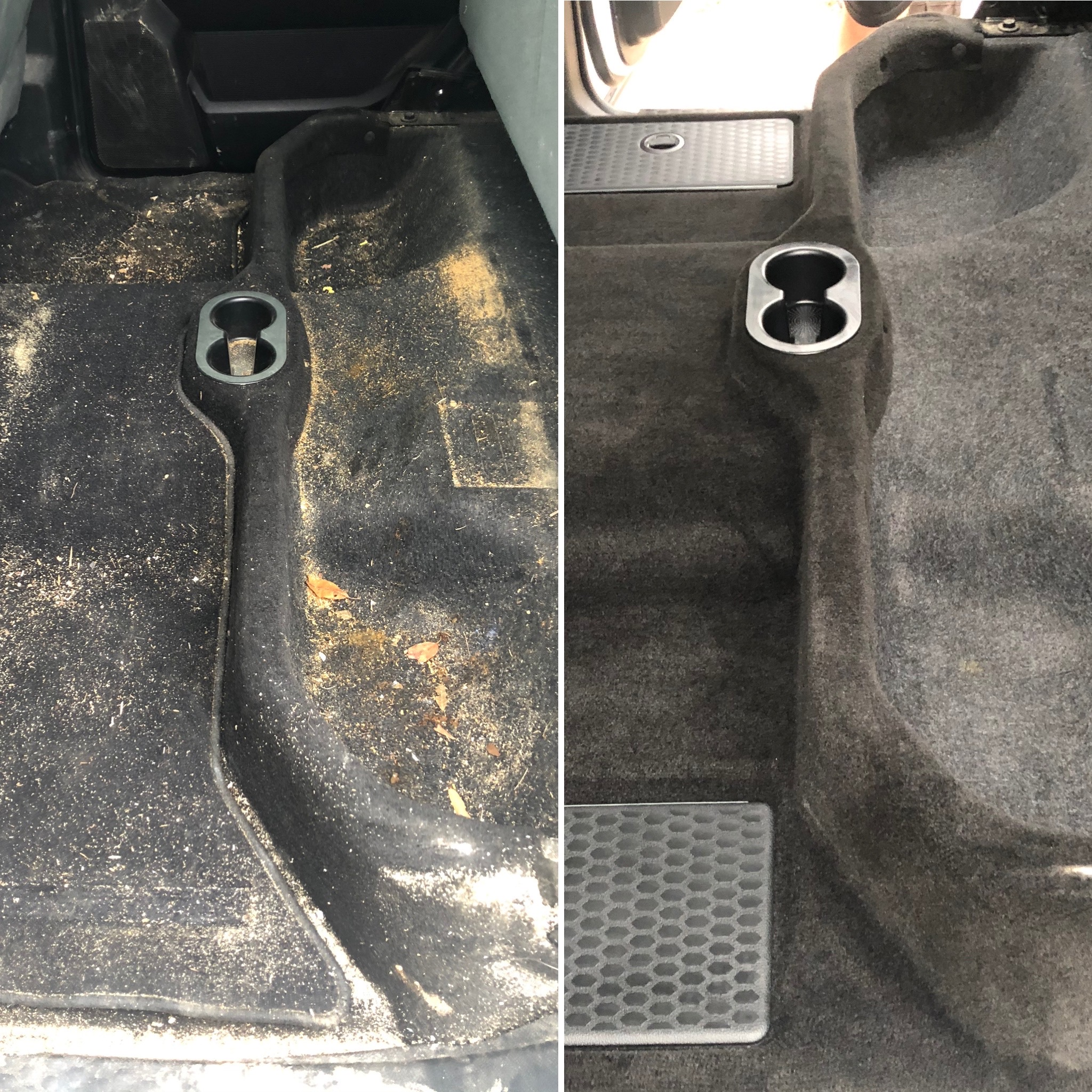 Carpet Detailing Before & After