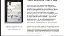 Lançamento do Livro: Música, educação e projetos sociais