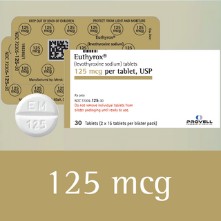 Euthyrox 125 mcg (levothyroxine sodium)
