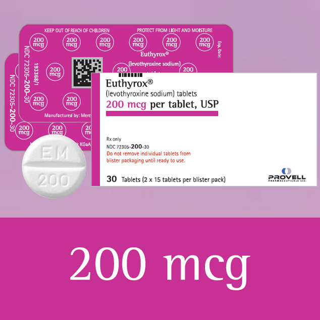 Euthyrox 200 mcg (levothyroxine sodium)