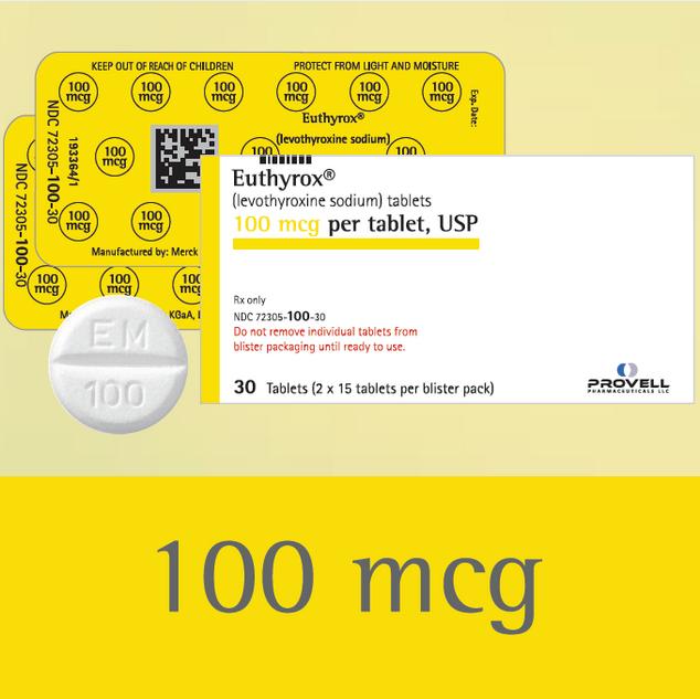 Euthyrox 100 mcg (levothyroxine sodium)