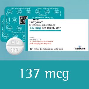 Euthyrox 137 mcg (levothyroxine sodium)