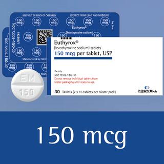 Euthyrox 150 mcg (levothyroxine sodium)
