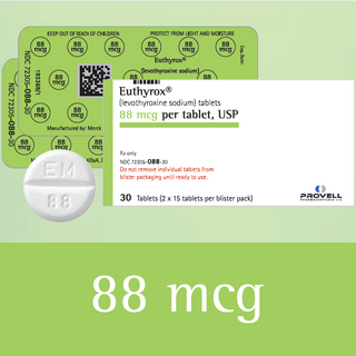 Euthyrox 88 mcg (levothyroxine sodium)