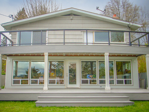 Two Story TimberTech Deck with DrySpace
