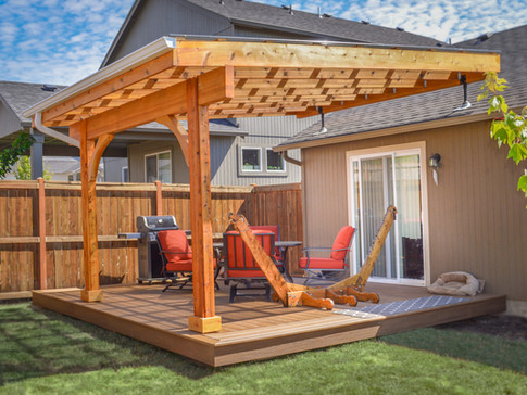 Pergola Suntuf Cover with SkyLift Roof Risers