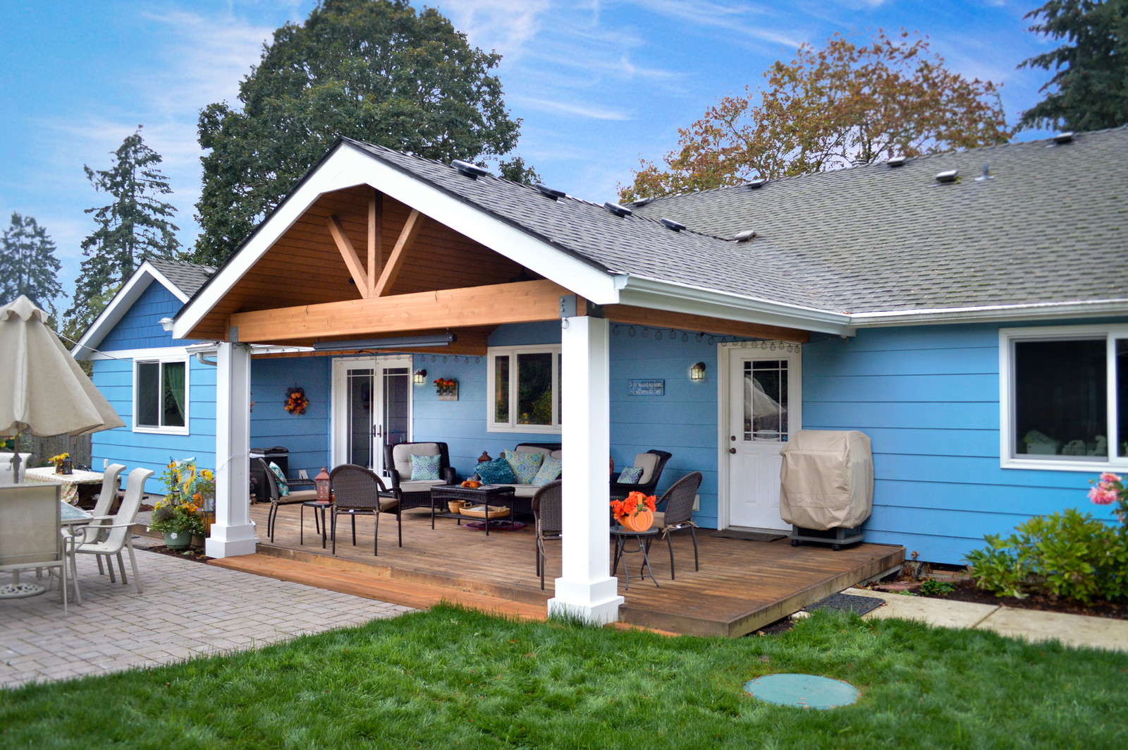 Genial Gable And Shed Patio Cover