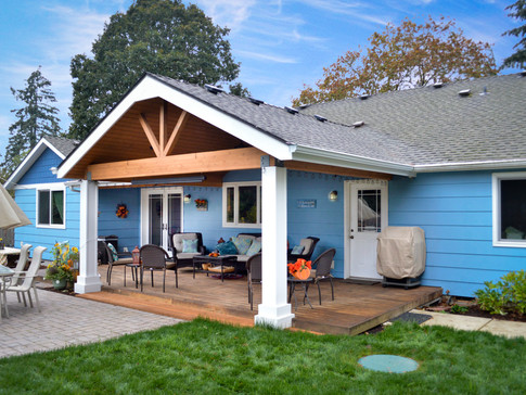 Gable and Shed Patio Cover