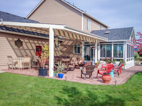 Suntuf Patio Cover with AZEK Pavers