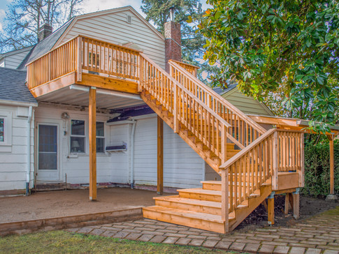 Cedar Stairs & Deck with DrySpace