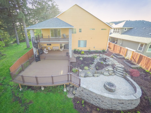 Two Story Deck and Patio Cover