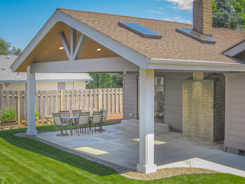 Open Gable Patio Cover with Skylights