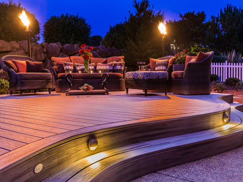 Curved Trex Deck on the Coast