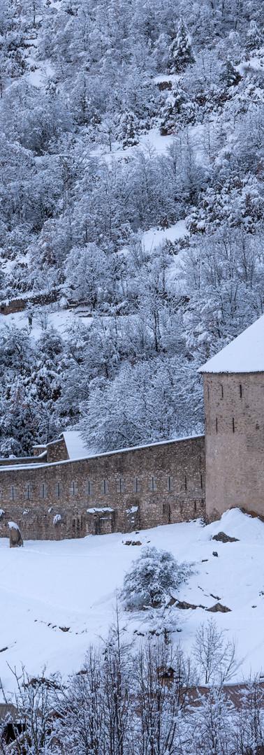 Le fort en hiver