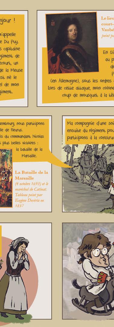 Présentation de la mascotte de l'exposition : capitaine Du Puy