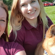 Team Managers - Lauren Hewett and Sarah Godfrey (plus Team Mascot, Arashi)