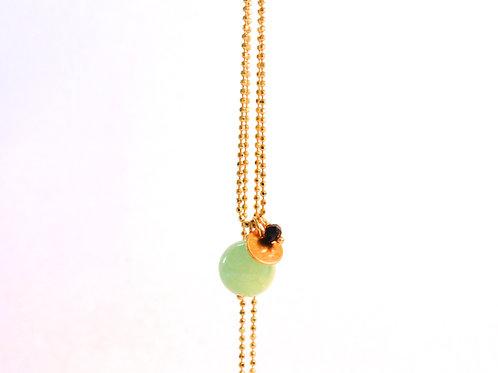 Necklace med grøn kugle
