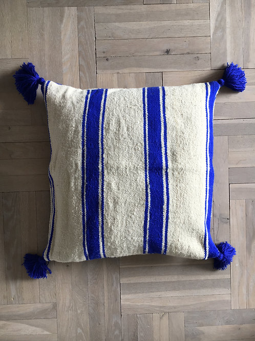 Blue stripe pillow big