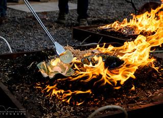 Talleres y quemas de invierno: Sigillatas. Quema Raku, Naked Raku y Carbonizaciones. Quema en Fogón-