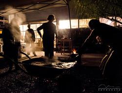 finalizando quema raku