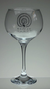 Engraved gin glass £21.00