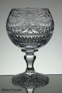 English hand made crystal chalice one of 4 size 9 x 6 inches £150.00