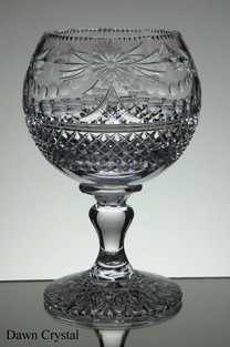 English hand made crystal chalice one of 4 size 9 x 6 inches £150.00 ( 4 Only )
