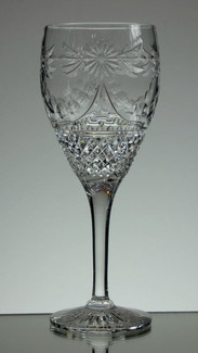 English hand Made  Full Lead Crystal Wine  Hand Cut In Beaconsfield Pattern £35.00 Each  Size 20.5 x 8 cm
