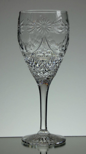 English hand Made  Full Lead Crystal Wine  Hand Cut In Beaconsfield Pattern £35.00 Each  Size 20.5 x 8 cm Limited