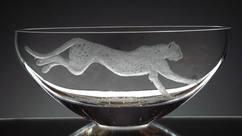 Unique Engraved Cheetah Bowl By John Everton