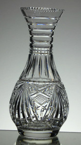 English Hand Made  Full Lead Crystal Vase  Hand Cut By Reg Everton Size 28 x 14 cm £75.00 Unique