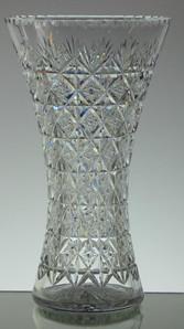 English made full lead crystal vase hand cut wellington pattern size 31 x 18 cm £150.00
