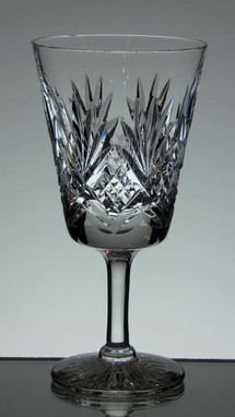 english hand made full lead crystal wine glass hand cut tracy pattern size 6.5 x 3 £21.00 each