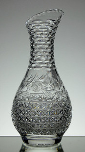 English Hand Made Full Lead Crystal Carafe Mansfield Pattern By Reg Everton And Stewart Davis £150.00 Size 28 x 13 cm