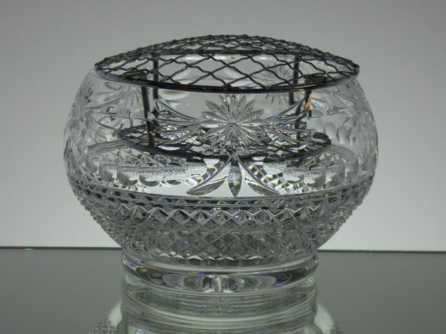 Enlish Hand Made Full Lead Crystal Rose Bowl Hand Cut In Beaconsfield Pattern £75.00 ( Only 2 Left )  Size 15 x 10 cm