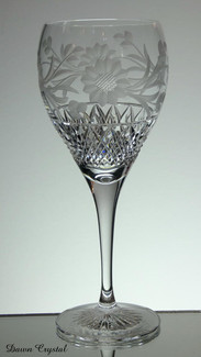 24% lead crystal gin / wine glass hand cut in dawn pattern size 9 x 3.5 inches £30.00