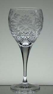 medium gin glass 24% lead crystal hand cut & engraved dawn pattern size 21 x 8.5 cm £25.00 each