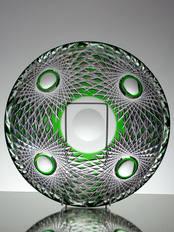 Modern Green Crystal Bowl