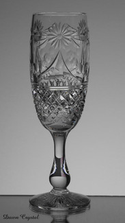 english hand made full lead crystal champagne glas size 7.5 x 2.5 inches £30.00