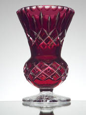 Small Ruby Cased Vase