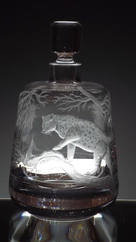 Leopard Engraved Decanter By John Everton
