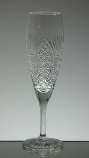 English hand made full lead crystal champagne glass church window pattern size 21.5 x 6 cm £30.00 each