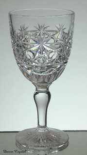 english hand made full lead crystal wine glass hand cut in cobweb pattern size 6 x 3 inches £25.00