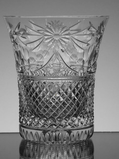 English Hand Made Full Lead Crystal Whisky Glass Hand Cut In The Beaconsfield Pattern £35.00 Each  Size 11 x 9.5 cm