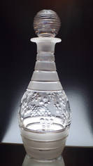 Unique Crystal Decanter Hand Cut & Engraved