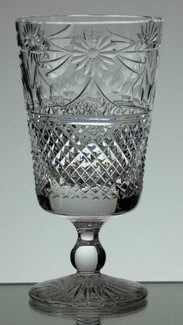 English Hand Made Crystal Short Stem Wine Glass Hand Cut In Beaconsfield Pattern £21.00 Each Size 13 x 7 cm