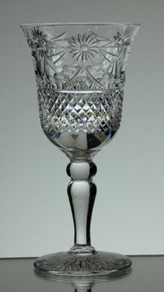 English Hand Made Lead Crystal Small Wine Hand  Cut In Beaconsfield Pattern £21.00 Each   Size 14 x 7 cm