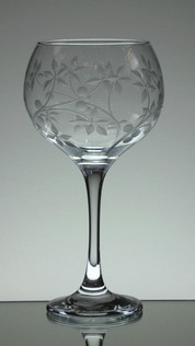 Large gin glass engraved with juniper berry's size 23 x 12 cm £25.00 each